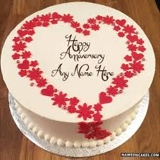 anniversary cake designs with name
