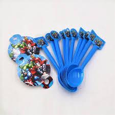 marvel baby shower 10pcs bag marvel s the plastic spoons birthday festival