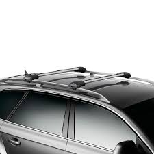 2013 Kia Sportage Roof Rack by Thule Aeroblade Edge Raised Rail Roof Rack