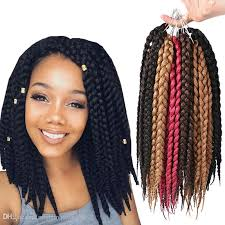crochet hair extensions 2018 sle 12inch 3s box braids crochet twist kanekalon synthetic