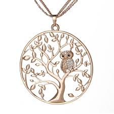 long owl pendant necklace images Owl pendant women necklace deal of the day jpg