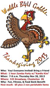 thanksgiving gobble dance party u2013 wobble b4u gobble u2013 thanksgiving day 7 8 a m u2014 kim