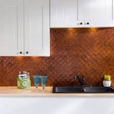 fasade 24 in x 18 in traditional 6 pvc decorative backsplash
