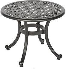 Outdoor Patio End Tables Amazon Com Patio End Table Nassau Outdoor Cast Aluminum