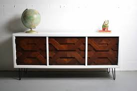 Painted Mid Century Furniture by Custom Order U2014 Mid Century Modern Brutalist Inspired Credenza