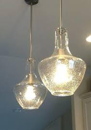 Seeded Glass Pendant Light Seeded Glass Pendant Light The Best Ideas On Attractive Within 15