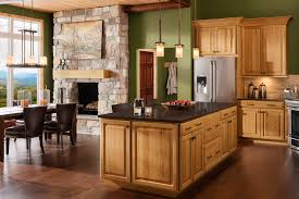 shenandoah cabinetry island in oak honey winchester door