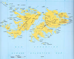 Las Americas Map by Map Of Malvinas Islands