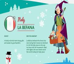 infographic the different versions of santa claus from around the
