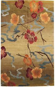 Modern Floral Rug Kimono Gold Modern Floral Rug J37497