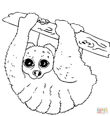 slow loris coloring page free printable coloring pages