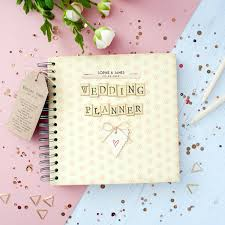 wedding gift journal personalised retro wedding planner journal in gift box the