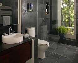 gray ceramic flooring tile glass shower cabin partition walls