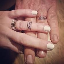 tattoos of wedding rings 50 cool wedding ring tattoos to express their undying