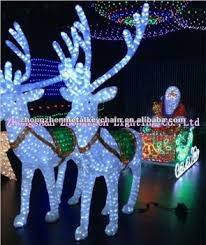 Christmas Decorations Santa Sleigh And Reindeer by Santa In The Sleigh With Reindeer For Led Christmas Decoration