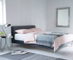 bed design with side table bedroom small bedroom with grey linen upholstered twin bed and