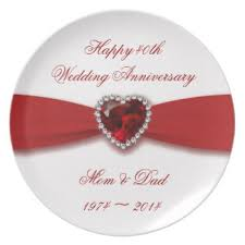 what is 40th wedding anniversary custom wedding anniversary plates