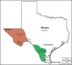Texas Map Map Of Texas Tx Usa by Lophophora Geographic Distribution Of Peyote Lophophora