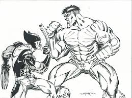 wolverine hulk 2 final inks fanboy67 deviantart