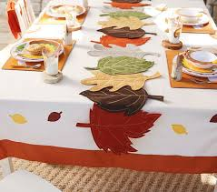 felt leaf thanksgiving table runner pottery barn