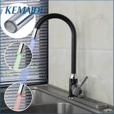 kemaidi hight quality kitchen faucets mixer head changing glow