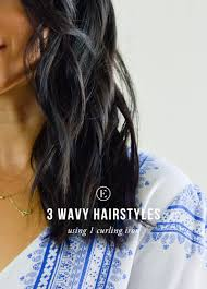 3 wavy hairstyles 1 curling iron the everygirl