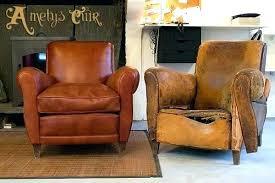restaurer canap cuir fauteuil salon cuir design hightechthink me