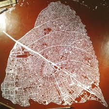 Map Of Amsterdam Paper Cut Leaf Map Of Amsterdam Amsterdam