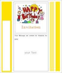 blank birthday invitation templates www kudan info