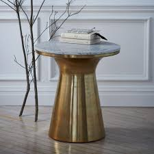 marble top bedside table marble topped pedestal side table west elm australia