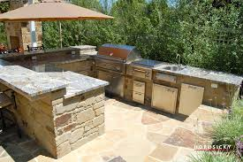 Kitchen Island Construction Outdoor Kitchens And Bbq Grills Horusicky Construction