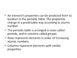 How Does The Modern Periodic Table Arrange Elements Organizing Elements Periodic Table Mendeleev Developed A Periodic