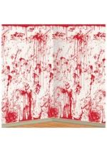 Blood Shower Curtain Blood Spatter Shower Curtain Indoor Haunted Bathroom Decoration
