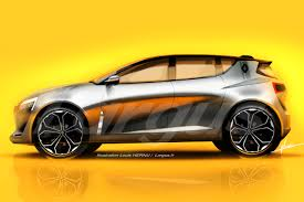 renault concept 2019 renault clio mk5 rendered based on the symbioz concept