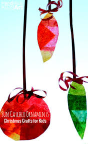 christmas suncatcher art projects for kids christmas art