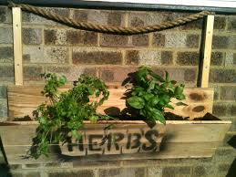 Wall Hanging Planters by Pallet Wall Hanging Herb Planter 99 Pallets
