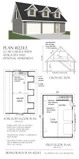 2 car steep roof garage plan with apartment loft 1224 2 34 u0027 x 24