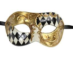 black and gold mardi gras luxury mask men s vintage design masquerade prom mardi