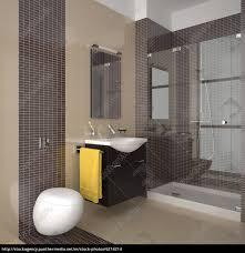 beige badezimmer modernes badezimmer mit beige und braun fliesen stock photo