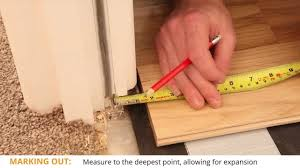 Measuring For Laminate Flooring Undercutting How To Lay Wooden Flooring In Doorways Youtube