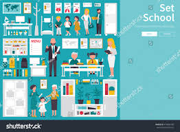 big collection flat design concept stock vector 474859768