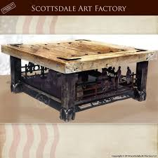 Furniture Homemade Coffee Table Solid Wood Coffee Table by Coffee Table Western Ranch Coffee Table Cbt694 Diy