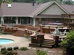 small backyard deck design swimming pool modern deck designs for