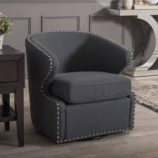 Grey Patterned Accent Chair Modern Chairs Living Room Furniture The Home Depot