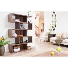 Bookshelf Room Divider Furniture Of America Karrise Walnut Display Shelf Bookcase Room