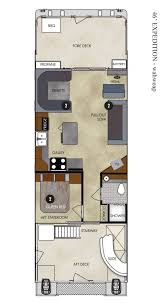 Floor Plan Com by Floor Plan 46 Ft Expedition Houseboat Lake Powell Resorts