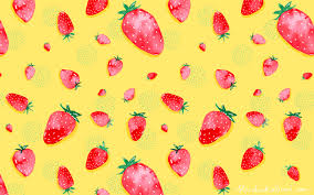 downloads made with love and watercolor strawberry field desktop