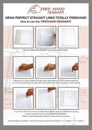 amazon com 2 x lettersize u0027freehand designer u0027 sheets draw