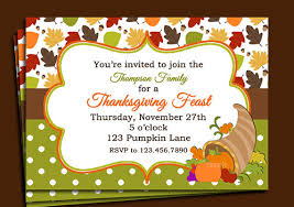 thanksgiving invitation printable dinner open house