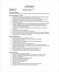 System Administrator Resume Template System Administrator Resume Sample And Tips